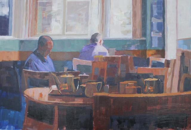 , 'Blue interior,' 2018, Castlegate House Gallery