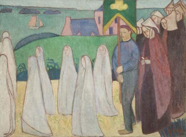 Émile Bernard, 'Confirmand's Procession', 1891, Painting, Oil on canvas, Davis Museum