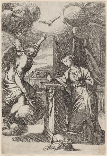 Carlo Maratti, 'The Annunciation', Print, Etching, National Gallery of Art, Washington, D.C.
