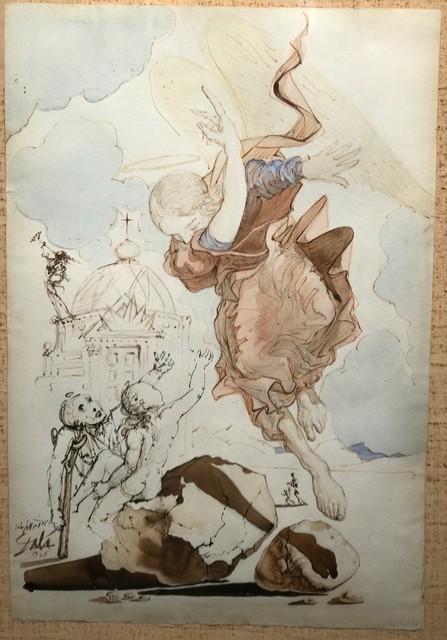 Salvador Dalí, 'The Archangel Raphael (AKA The Angel of the Rock, The Angel of Redemption)', 1945, Robin Rile Fine Art