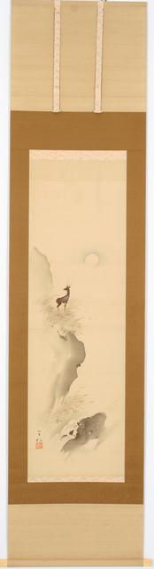 Morimura Gito, 'Deer by the Full Moon (T-1647)', ca. 1920, Erik Thomsen
