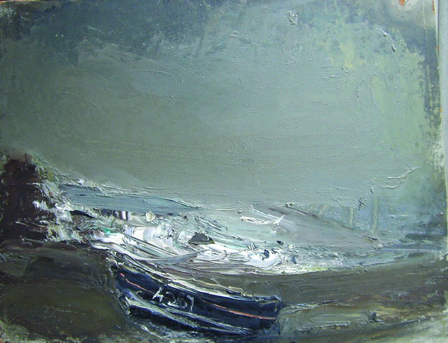 , 'Grey Seascape with Black Boat, Catterline,' , Cyril Gerber Fine Art/ Compass Gallery