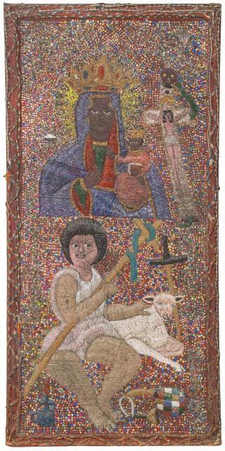 "Lhérisson Dubréus, 'Temple Altrarpiece ""Tibout Ceus St Louis Léogâne""', Mixed Media, Mixed media on textile and wood, PIASA"