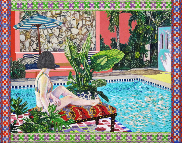 , 'A Pool Side,' 2018, GALLERY MoMo