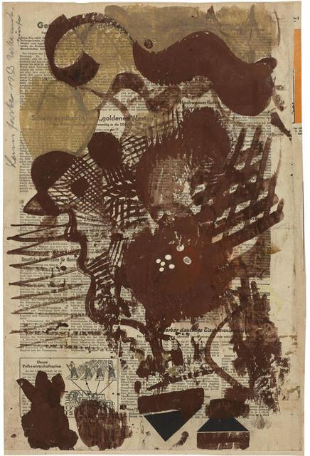 , 'Schwünge, Gitterwerk und Profil in Braun,' 1953, Galerie Doebele