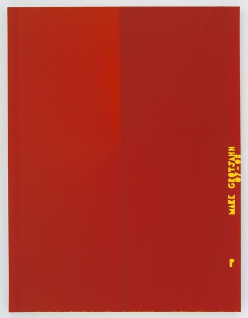 Mark Grotjahn, 'Untitled (Red Butterfly I Yellow P MARK GROTJAHN 07-08 751)', 2007-2008, Gagosian