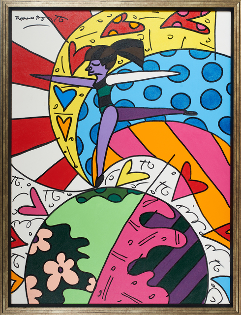 MIDNIGHT CAT BY ROMERO BRITTO CANVAS PICTURES WALL ART PHOTOS PRINTS POSTERS