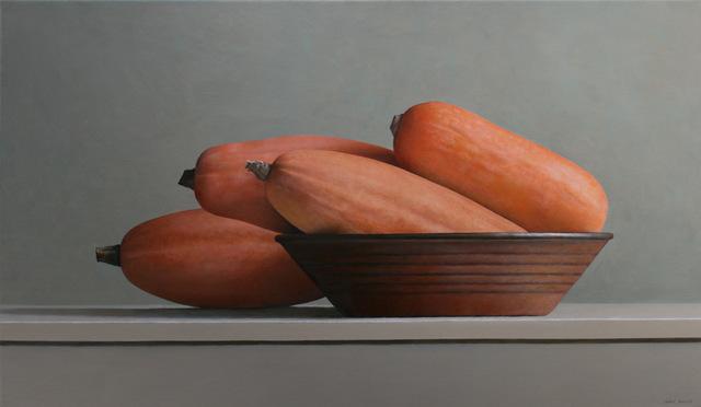 Janet Rickus, 'Banana Squash and Brown Bowl', 2015, Gallery Henoch
