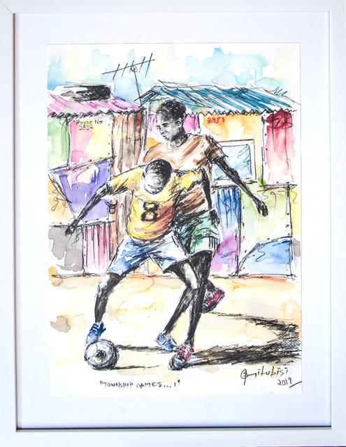 Semi Lubisi, 'Township Games I', 2019, ARTsouthAFRICA
