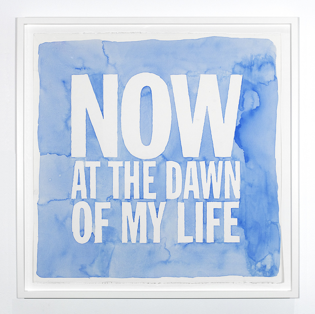John Giorno, 'NOW AT THE DAWN OF MY LIFE', 2019, Sperone Westwater