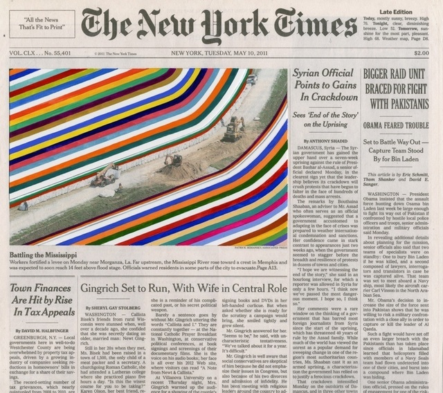 Fred Tomaselli, 'MAY 10, 2011 #2', 2012, TWO x TWO