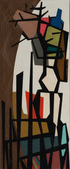 , 'Black Forms in Color Space,' 1946, Weinstein Gallery