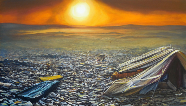 , 'Slum Landfill Sunset,' 2016, Lawrence Alkin Gallery