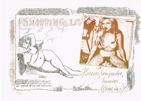 , 'Shopping list huevos compadre,' 1972, Baró Galeria
