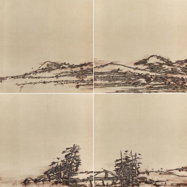 , ' Hu Shan Scenery (Quadriptych) 湖山几家风景 四屏,' 2012, Longmen Art Projects