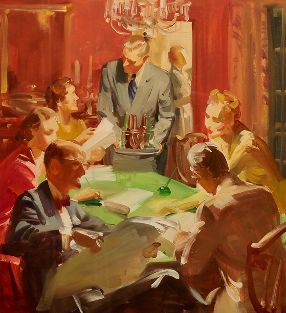 Haddon Sundblom, 'Dinner with Friends', ca. 1950, The Illustrated Gallery