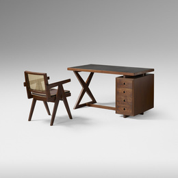 desk and chair from Chandigarh