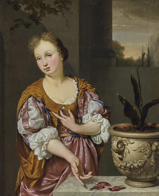, 'Vanitas Portrait of a Young Woman,' 1687, Daxer & Marschall