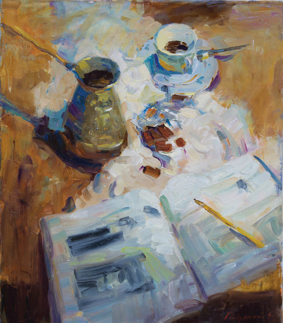 , 'Evening Coffee,' 2014, Paul Scott Gallery & galleryrussia.com