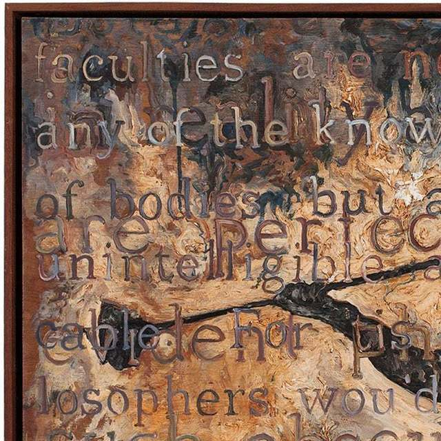 Steve Hurd, 'Heaven and Found Philosophy Detail II', 1990-1999, Painting, Wood, Mahogany, Oil Paint, Lions Gallery
