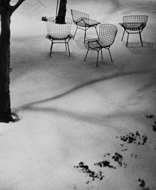, 'Wire Chairs in Snow, MoMA,' 1965, Bruce Silverstein Gallery