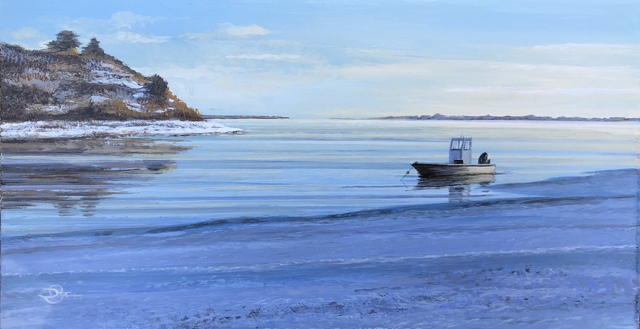 Del-Bourree Bach, 'Winter Blue', 2020, Painting, Acrylic on Panel, The Galleries at Salmagundi