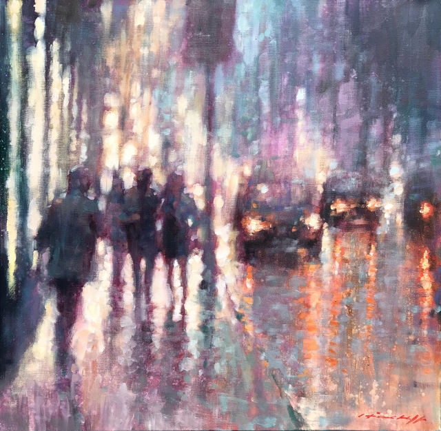 , 'Walking in the Rain,' 2019, Wentworth Galleries