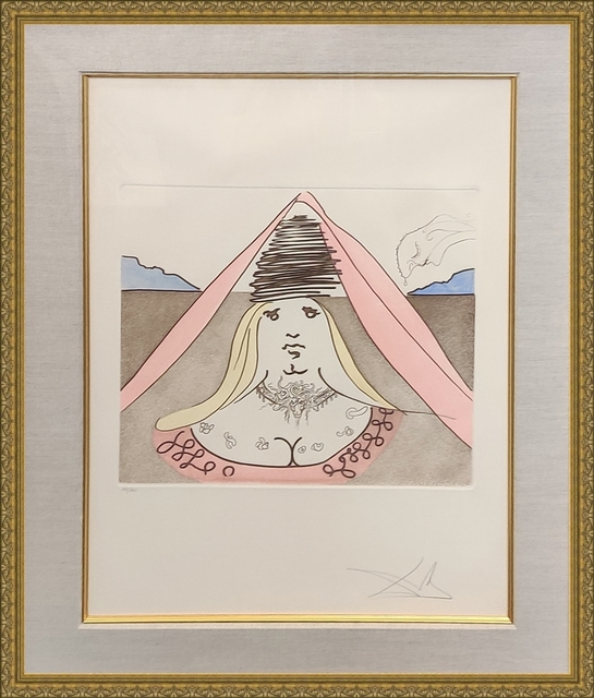 Salvador Dalí, 'THE LADY DULCINEA', 1981, Print, ETCHING & AQUATINT IN COLORS, Gallery Art