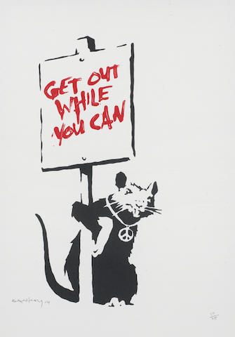 Banksy, 'Get Out While You Can', 2004, Maddox Gallery: The Classic Preview