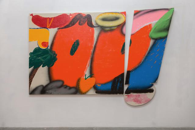 , 'Triple Motherfucker (Blue Foot),' 2018, Galerie Lisa Kandlhofer