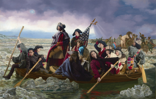 , 'Ode to Leutze's Washington Crossing the Delaware,' 2016, Jonathan Ferrara Gallery