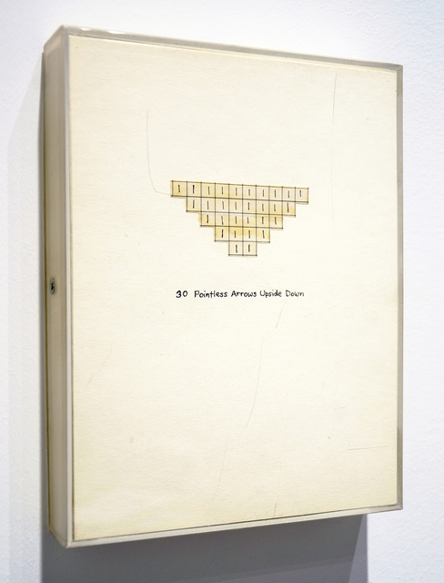 , '30 Pointless Arrows Upside Down,' 1972, Minus Space
