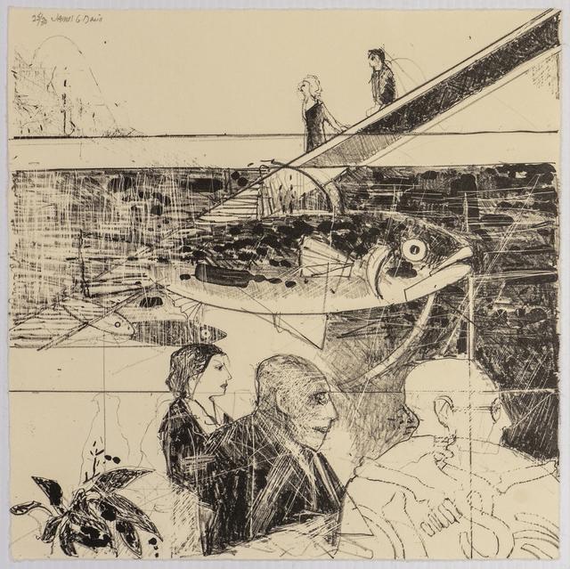 James G. Davis, 'Profiles', 1989, Print, Lithograph, Richard Levy Gallery