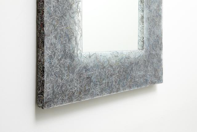 Jens Praet, 'Prototype 'Shredded' mirror 1', 2014, Design/Decorative Art, Shredded paper (Art + Auction magazine leftovers), resin, aluminum, mirrored glass., Sebastian + Barquet