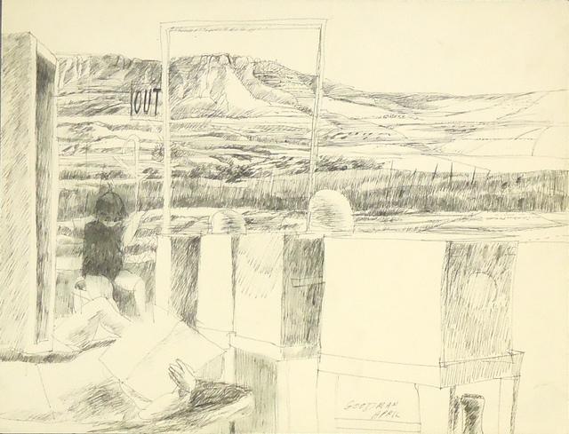 , 'Figures in a Landscape,' ca. 1970, Cerulean Arts