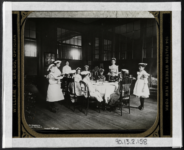 Jacob A. Riis, 'Waiting at table, vacation school', 1902, Museum of the City of New York