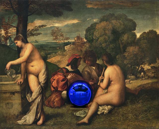 , 'Gazing Ball (Titian Pastoral Concert),' 2016, Gagosian