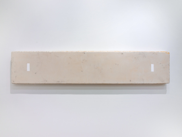 , 'Long Ochre Rectangle with 2 White Far Apart,' 2011, Marc Straus