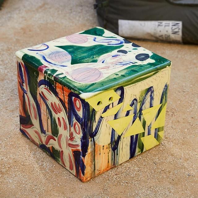 Reinaldo Sanguino, 'Ceramic Square Side Table 1', 2017, The Future Perfect