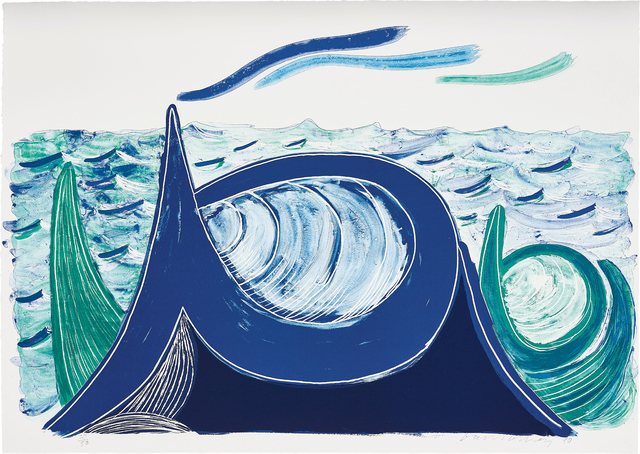 David Hockney, 'The Wave, A Lithograph', 1990, Phillips