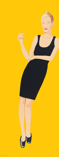 Alex Katz, 'Black Dress 3 (Oona)', 2015, Mary Ryan Gallery, Inc