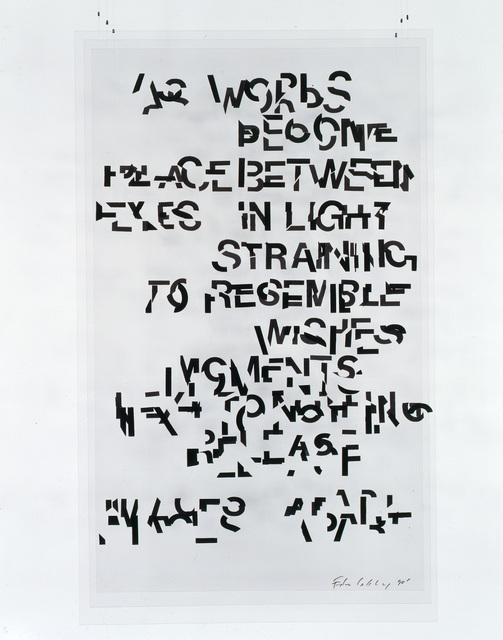 Edwin Schlossberg, 'As Words ', 1990, Ronald Feldman Gallery