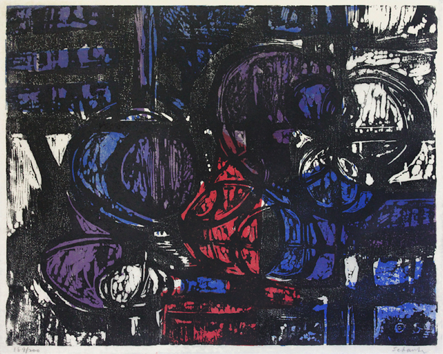 Louis Schanker, 'Circle Image No.25', 1952, F.L. Braswell Fine Art