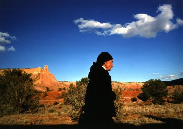 Dan Budnik, 'Georgia O'Keeffe with Ghost Ranch Spirit Cloud, New Mexico', 1975, Etherton Gallery