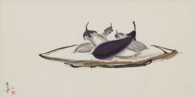 , 'Eggplants on Platter (MA-074),' 1978, Erik Thomsen