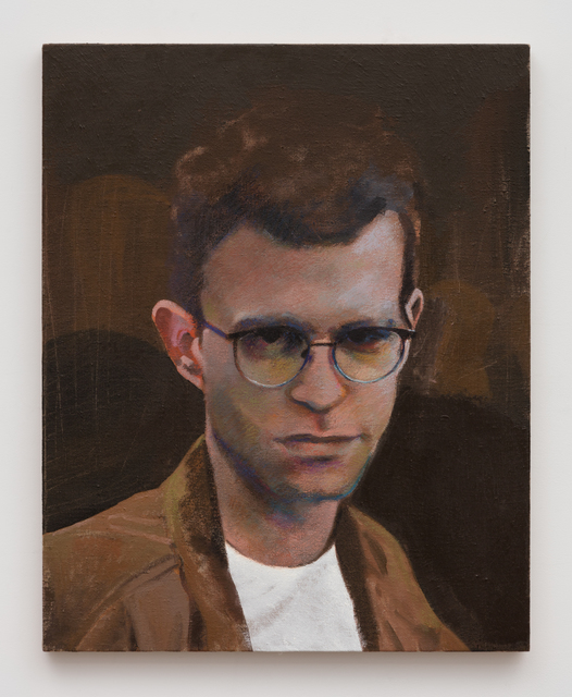 Nolan Simon, 'Sam at the Whitney with Friends', 2017, Painting, Oil on linen, Independent Curators International (ICI) Benefit Auction