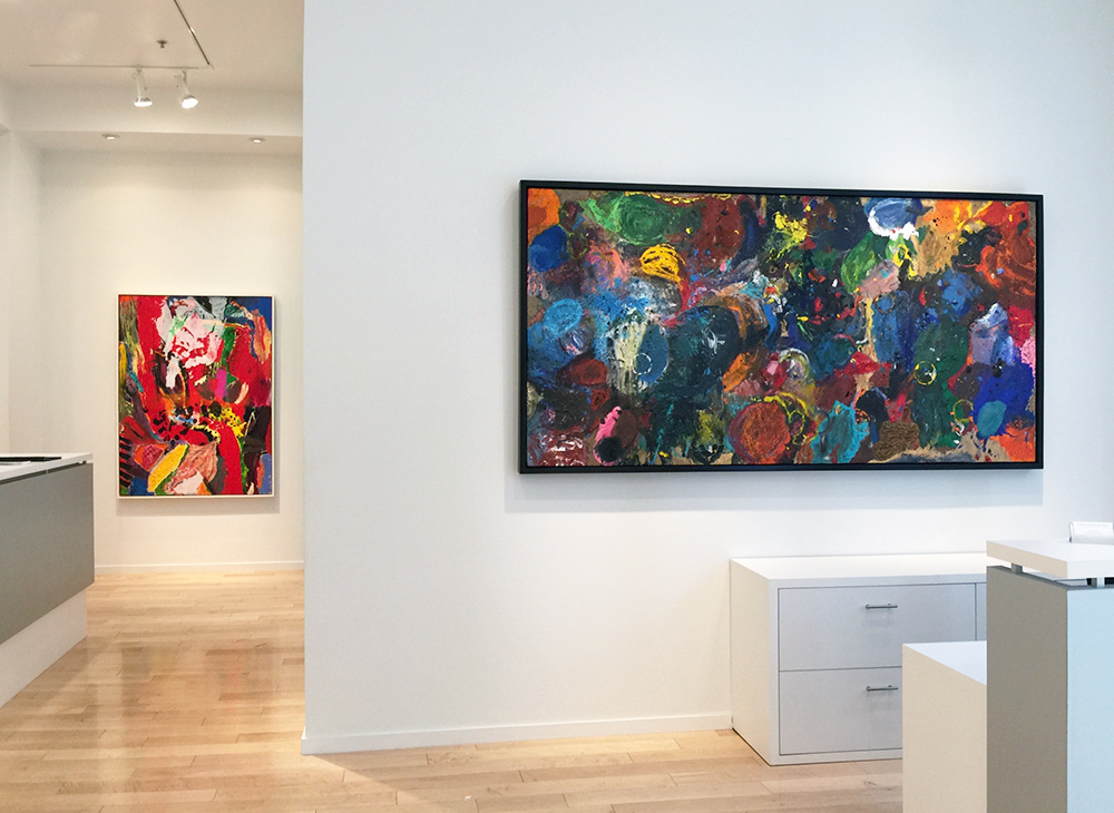 (Left) Love in the Wood – 67″ x 48″, 2015