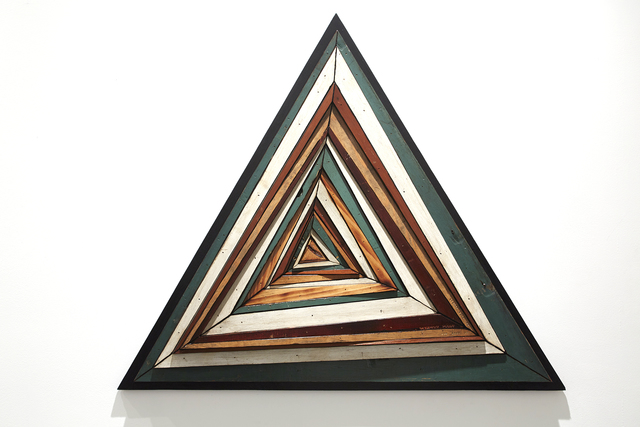 , 'Composite Memory Abstract Triangle (Asbury Park NJ),' 2014, Jonathan LeVine Projects