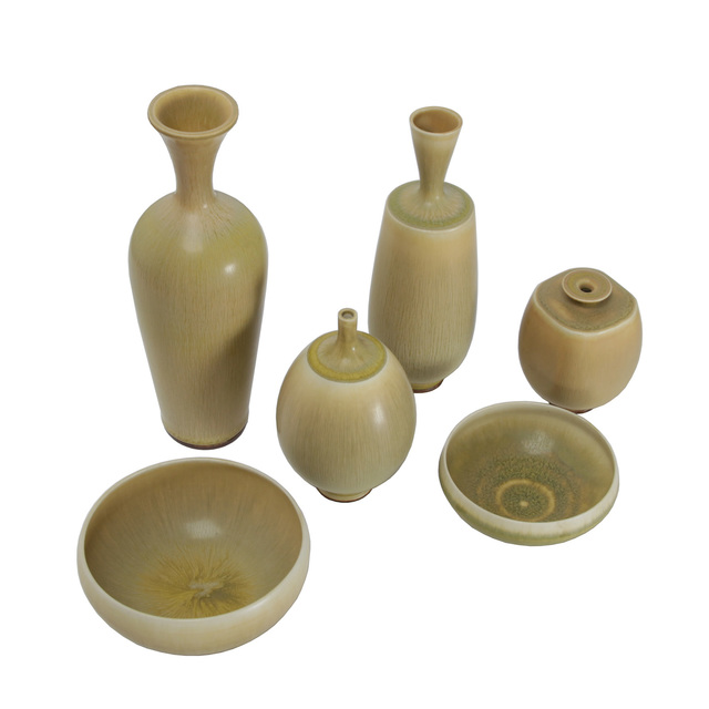 Berndt Friberg, 'Six pieces of ceramic', 1973-1976, Design/Decorative Art, Glazed ceramic, Dansk Møbelkunst Gallery