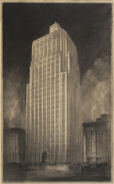 J.R. Miller & T. L. Pflueger, 'Pacific Telephone & Telegraph Co. Building', 1924, San Francisco Museum of Modern Art (SFMOMA)